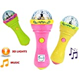 Akhand Musical Microphone Shaped Toy with Rotating 3D Lights