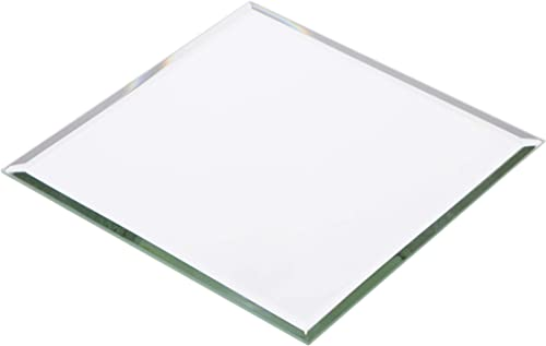 Plymor Square 3mm Beveled Glass Mirror, 5 inch x 5 inch Pack of 12