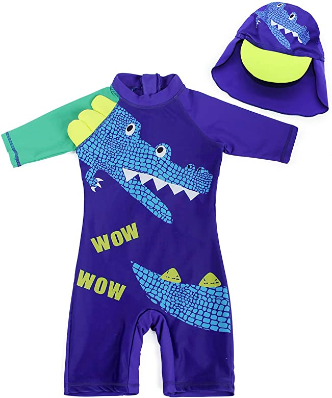 Boys Spiderman Swimwear Swimming Costume 1-Piece with Cap Swimsuit UV Protection Surf Suit Beach Holiday