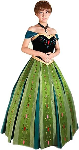 Amazon.com: Mordarli - Disfraz de Anna de Frozen para mujer ...