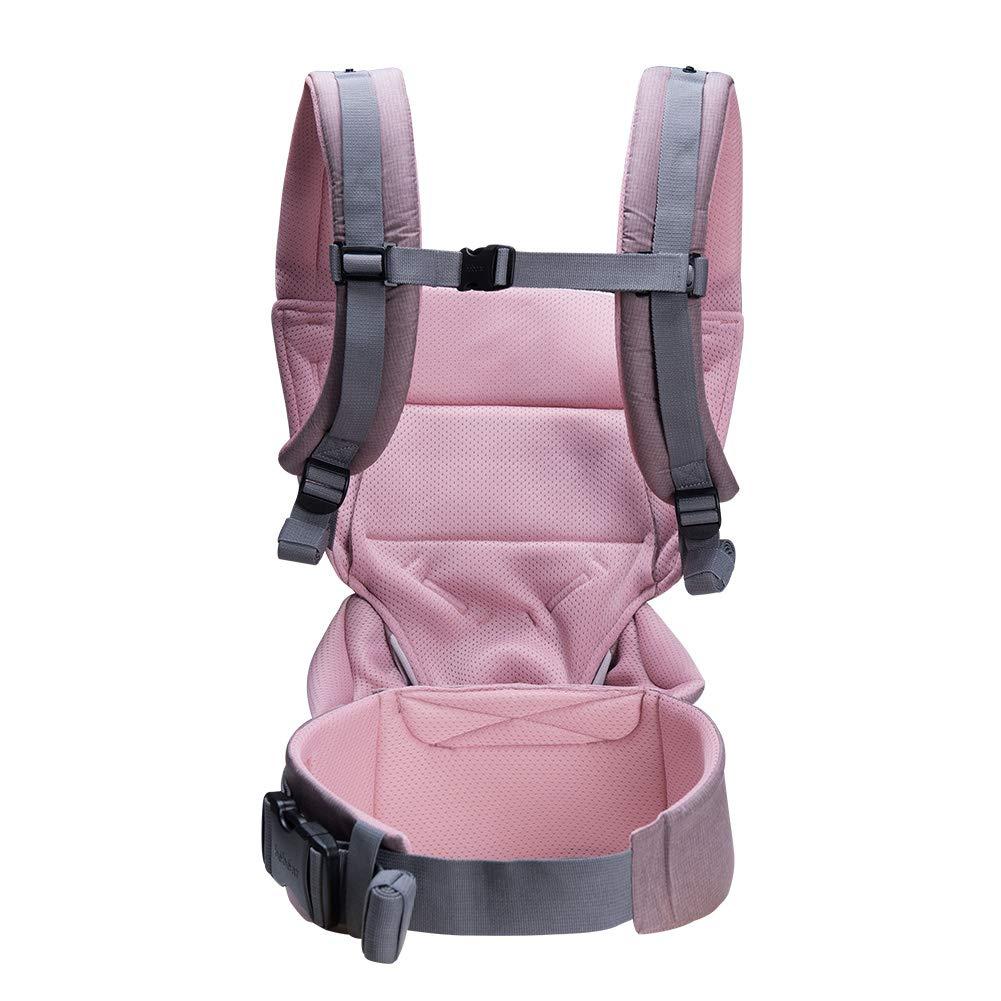 Bebamour Babytrage Sling 3 in 1 Ergonomischer Babytrage Rucksack f/ür Neugeborene Atmungsaktive und weiche Babykette f/ür S/äuglinge und Kleinkinder Grau