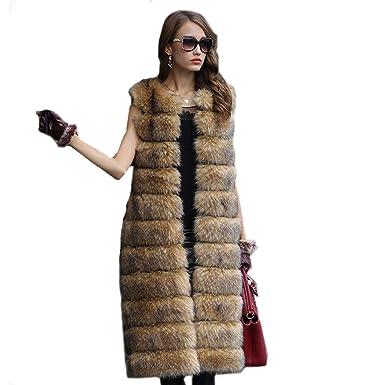 0db509630f5d Lisa Colly Women Faux Fur Coat Jacket Women Winter Long Fake Fur ...