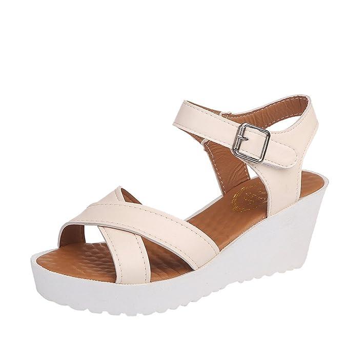 Sandalias para Mujer,ZARLLE Calzado Chancletas Tacones