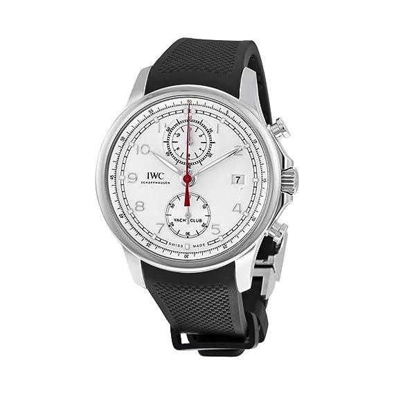 d593fc6438b8 IWC portugieser Yacht Club blanco Dial negro automático Mens Reloj 3905 -  02  Amazon.es  Relojes