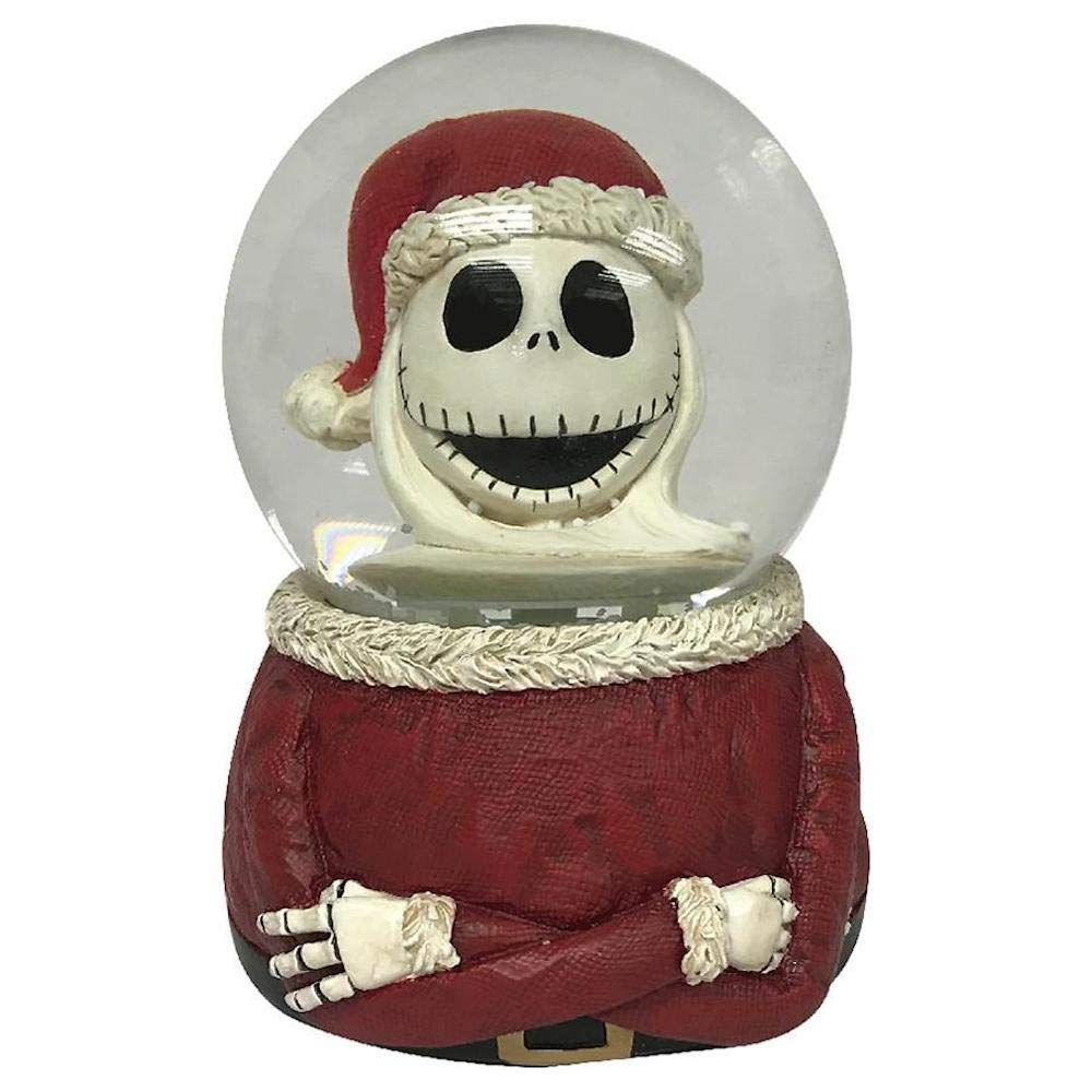 Nightmare Before Christmas Disney Santa Jack Bust Musical Waterglobe Snowglobe