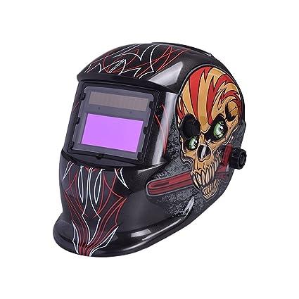 Hanbaili Casco de soldadura, 1647A Máscara de soldador de oscurecimiento automático Máscara de soldador Protección