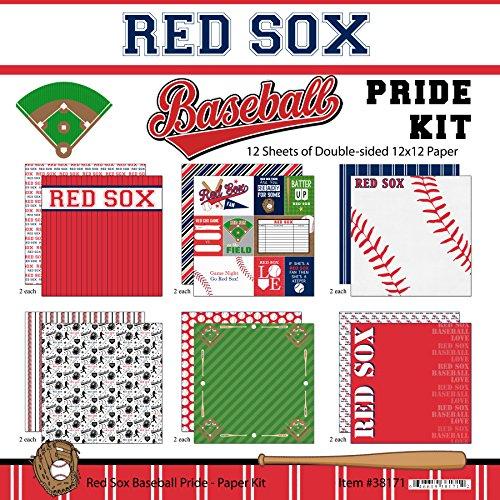 d Sox Pride Baseball Scrapbook Kit (Red Scrapbook Kit)