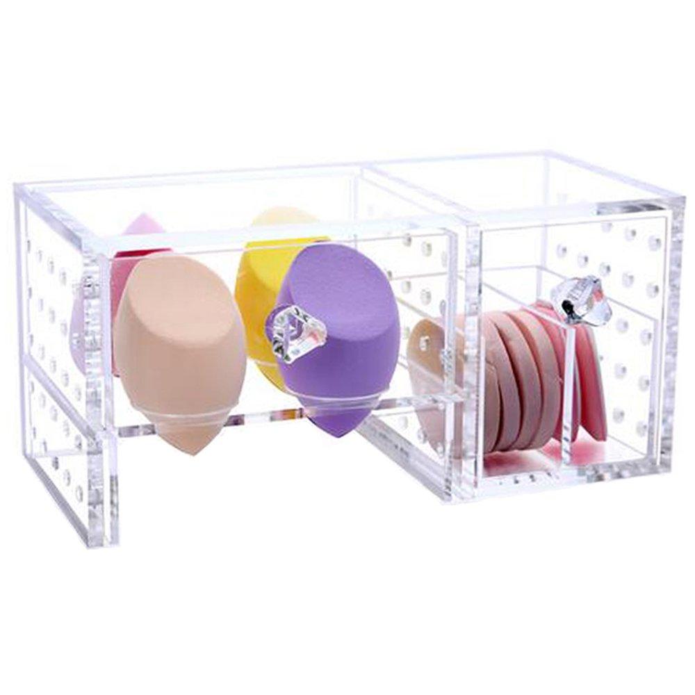 Clear Acrylic Makeup Sponge Organizer