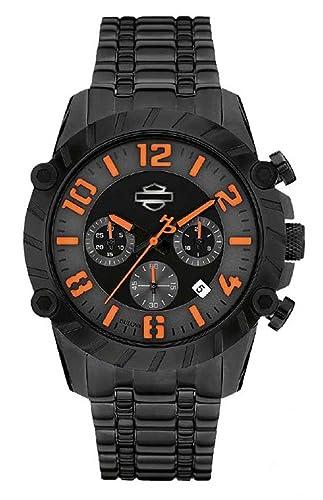 Harley-Davidson Reloj para Hombres, Bulova cronógrafo, Negro Acero Inoxidable 78b137: Harley-Davidson: Amazon.es: Relojes