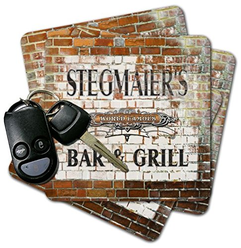 STEGMAIER'S Bar & Grill Brick Wall Coasters - Set of ()