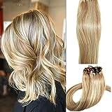 Myfashionhair Clip in Hair Extensions Real Human Hair Extensions 18 inches 70g Clip