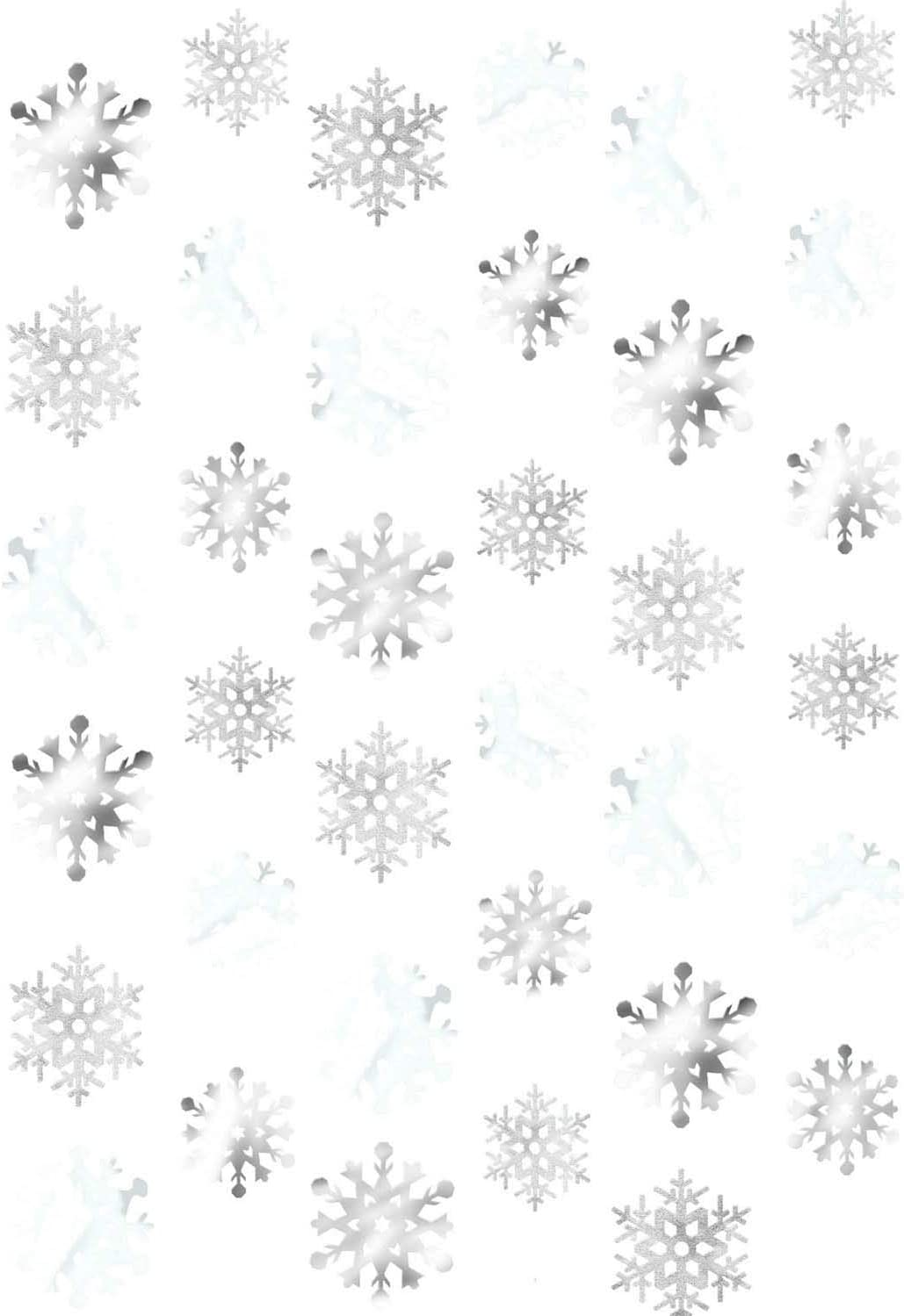 Amscan 672015 Christmas Snowflake String Foil, 6 Ct. | Party Decoration 7'
