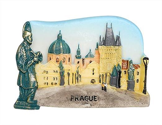 zamonji Plaza de la Ciudad Vieja, República Checa 3D Imanes para ...