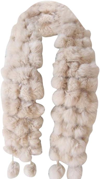 Women/'s Multi Colour Twisted Fur Scarves Ladies Girls Fancy Dress Winter Scarf