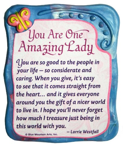 - Sculpted Magnet: You Are One Amazing Lady, 3.0