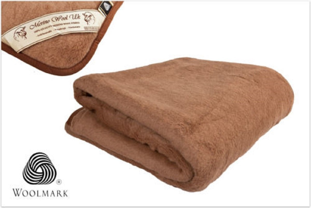 Woolmark certified !! Cover Pad Reversible Mattress Topper Warm & Crib , Toddler 100% Merino Wool CAMEL Underblanket cot bed sheet size: 55'' x 28'' by SPW-MerinoWool