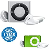 Captcha Plastic and Metal Mini Rechargeable Shuffle MP3 Player with Stylish Ipod and SD Card Slot for All Smartphones(Multicolour)