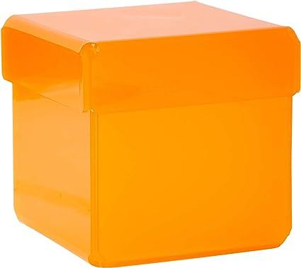 CAJA METACRILATO DADDO COLORES (Naranja semitranslúcido): Amazon ...