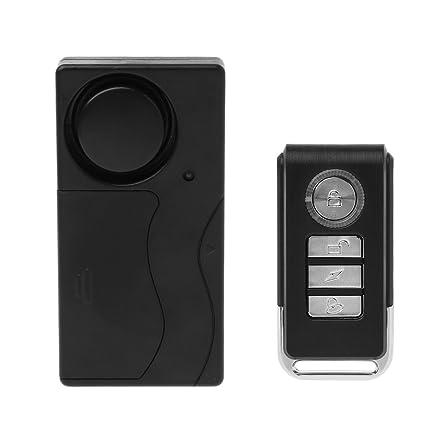 Wireless Remote Control Vibration Alarm Sensor For Car Window Door Home Security