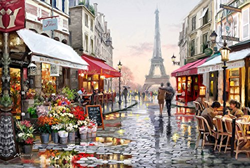 21secret 5D Diamond Diy Painting Full drill Handmade Eiffel Tower Paris Street lovers Cross Stitch Home Decor Embroidery - Paris Shopping Street