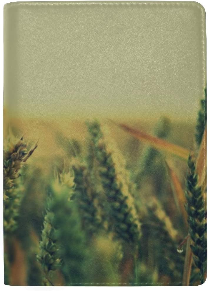 Maxm Ears Grass Sky Light Leather Passport Holder Cover Case Travel One Pocket