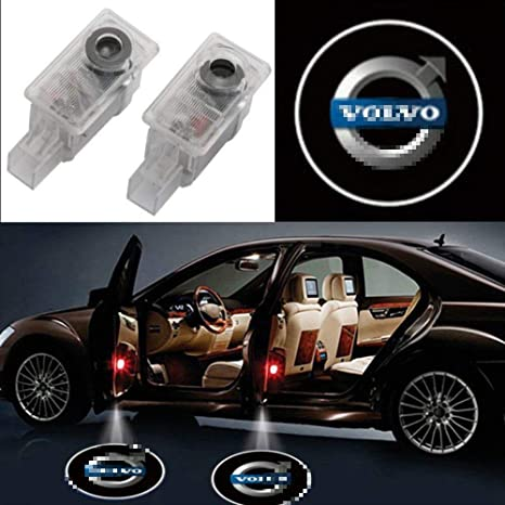 Crystal Car Door Projector LED Logo HD Welcome Courtesy Shadow Logo Light Low Consumption for Volvo