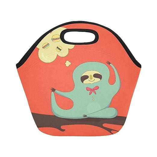 Bolsa de almuerzo de neopreno aislada con diseño de dibujos ...