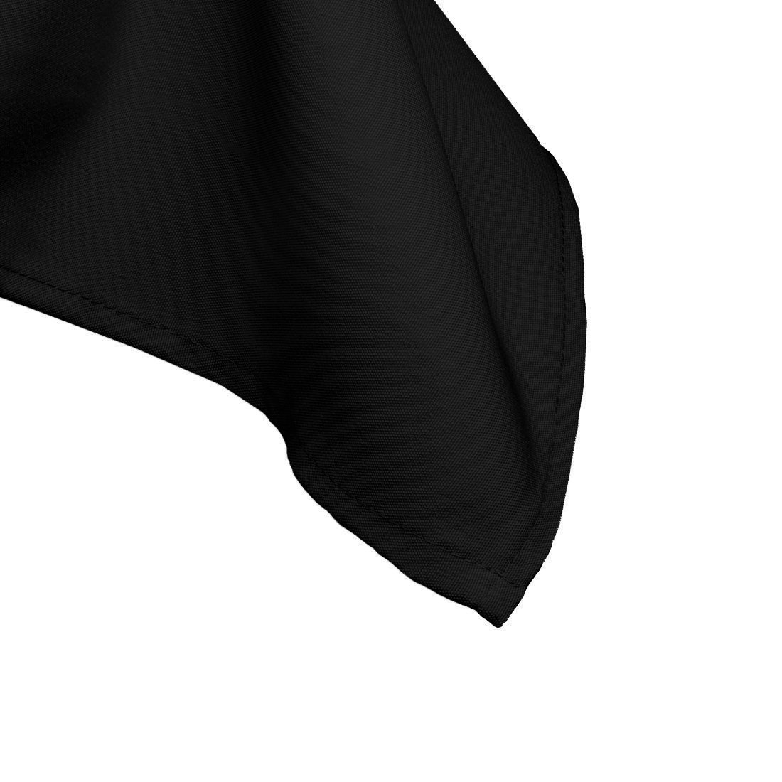 Comedor y Fiesta Cumplea/ños 90 x 132 Inches por Boda Suministro Negro Rectangular Algod/ón Poli/éster Mantel Cubierta para Boda Individual
