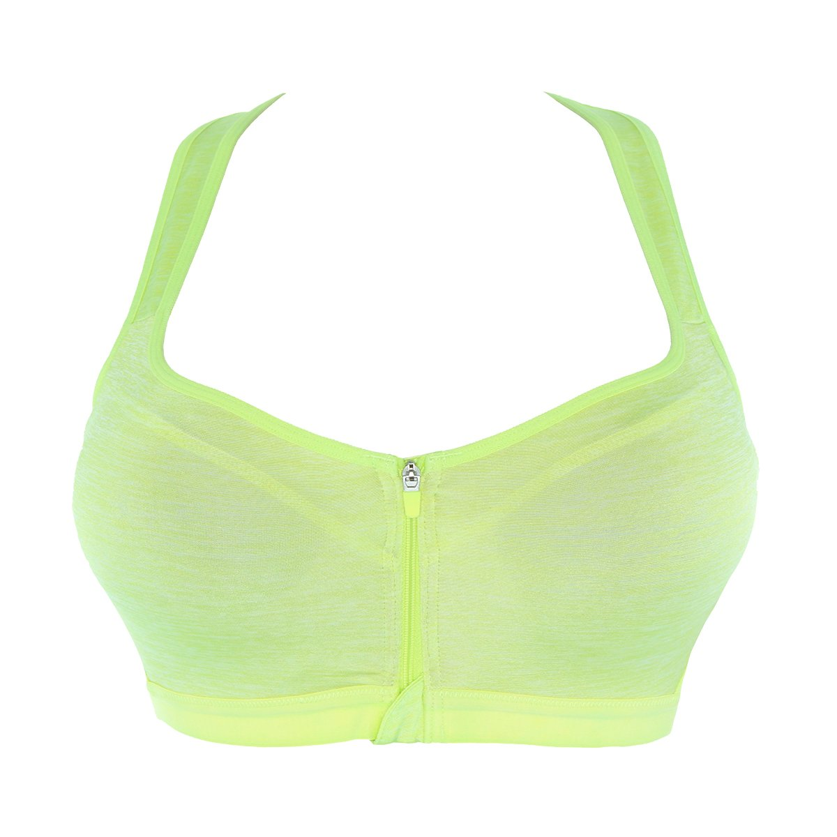 Sans Complexe 56H9803 Women's Sport Tonic Lime Green Solid Colour Non-Wired Support Sports Bra