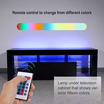 WISFORBEST Mueble TV LED Mesa para Televisión hasta 60 Pulgadas ...