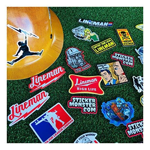 Lineman (64) Hard Hat Stickers Hardhat Sticker, Linemen, Electrician, Reddy IBEW by Unknown (Image #2)