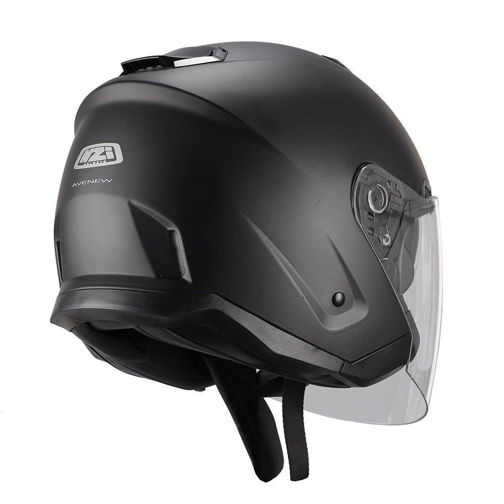 NZI 150257G067 Avenew Casco de Moto Color Negro Mate Talla M 57-58