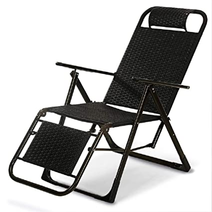 ZLJTYN Lounge Chairs | Outdoor Indoor Adjustable Nap Recliner Chair Folding Deck  Chair Beach Chair With