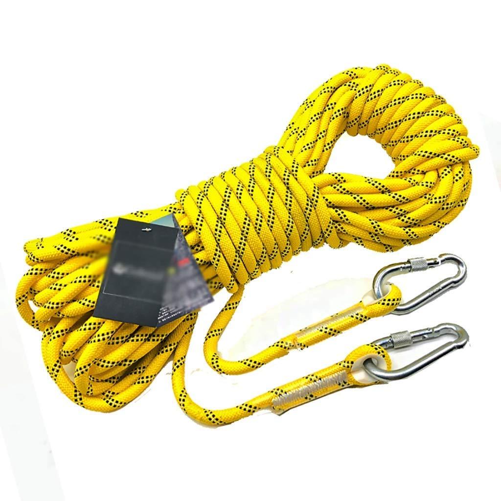 SCJ Cordes Corde d'escalade extérieure, Corde de sécurité de 8 mm, Corde de Rappel, Corde d'escalade, équipement d'évacuation de Corde de Nylon, 30m   20m   15m   10m (Taille  15m) 15m