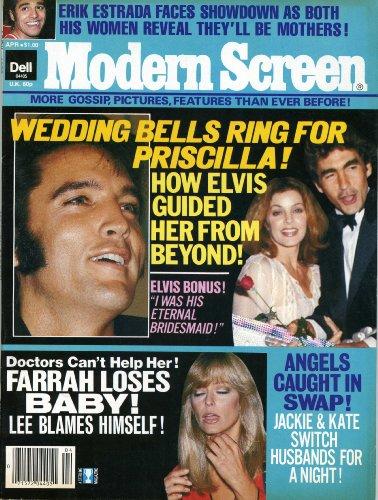 MODERN SCREEN Magazine April 1979 (Wedding Bells ring for Priscilla, Elvis Presley, Farrah Fawcett,)