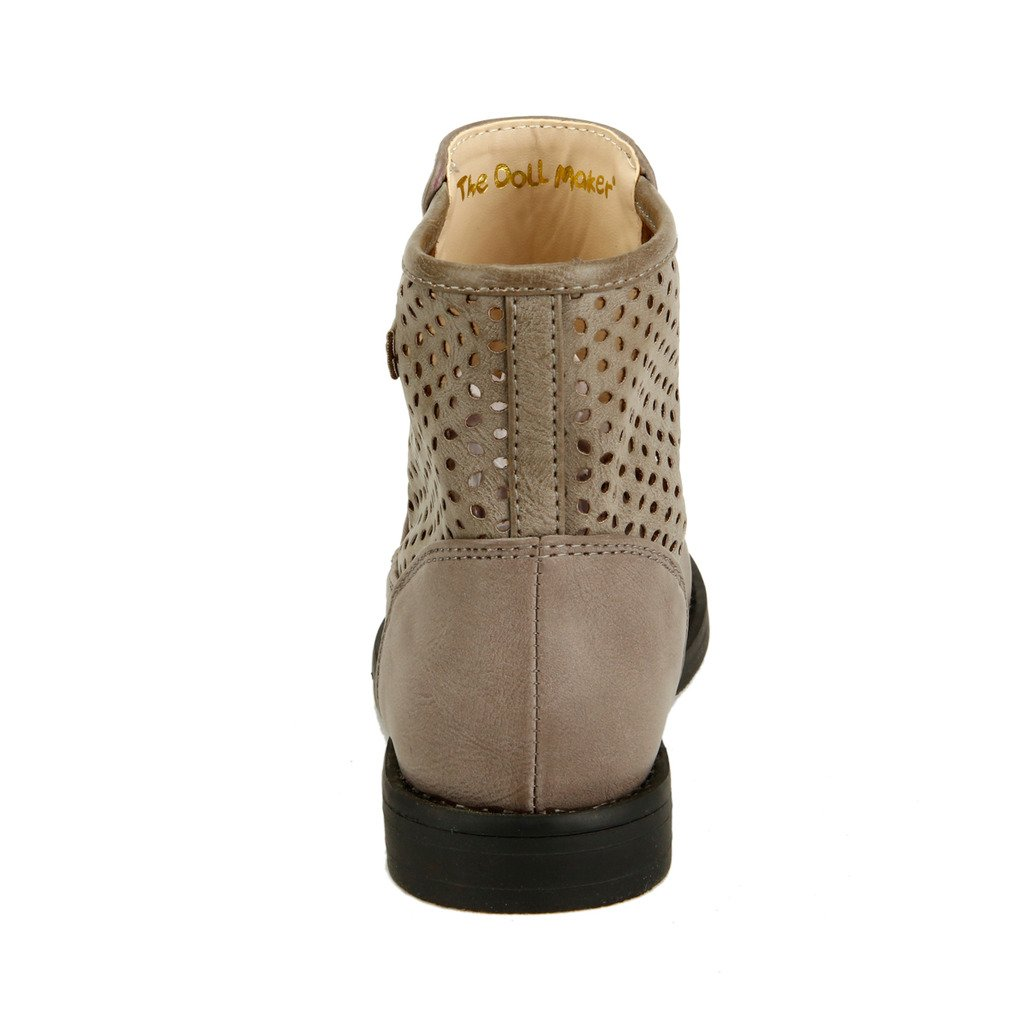The Doll Maker Diamond Cutouts Round Toe Ankle Boot FBA1541714B-10