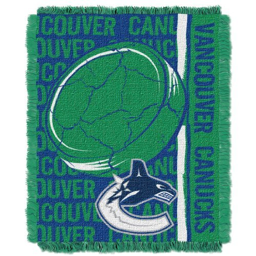 NHL Vancouver Canucks Double Play Jacquard Throw, 48