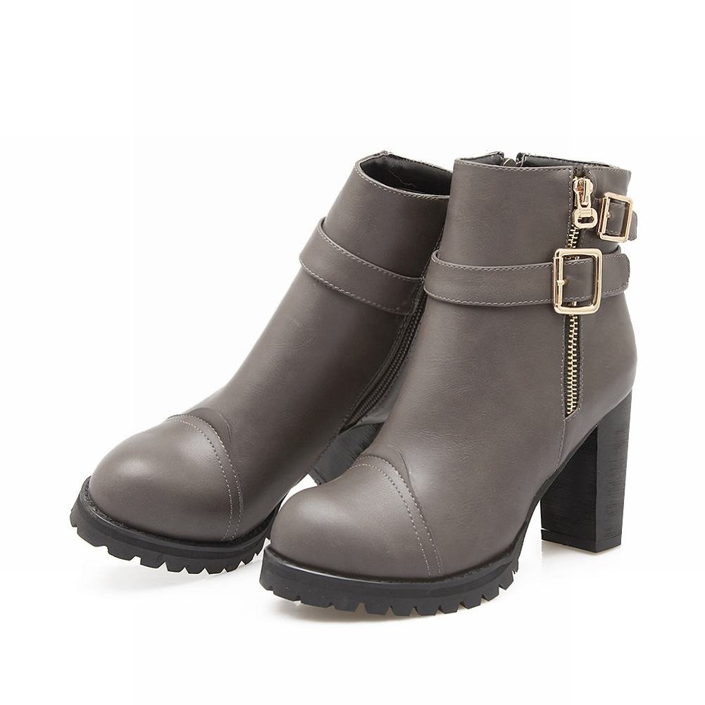 MissSaSa Donna Elegante Invernali Invernali Invernali Boots StivalettiGrigio 6dfe15