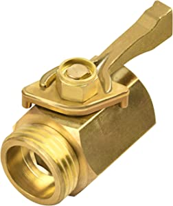 "CALMA Brass Shut Off Valve, 3/4"" Brass Garden Hose Shut Off Valve Faucet Heavy Duty Water Flow Control Hose Shut-Off Connector for Garden Nozzle Water Hose"