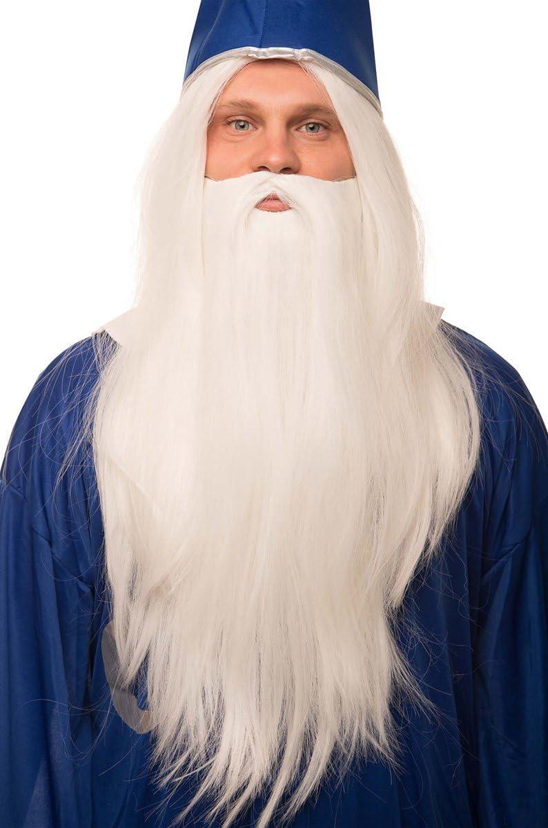 Larga de la peluca mago con barba para de disfraz de grupo de los ...