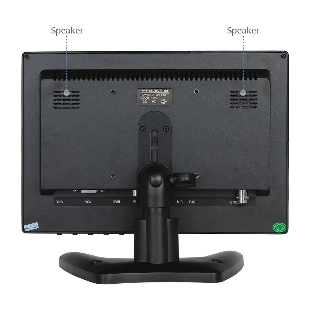 amazon com eyoyo 10 inch lcd monitor 1280x800 with hdmi bnc av vga rh amazon com