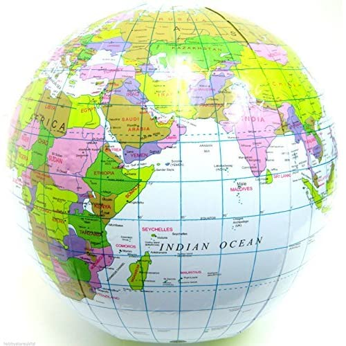 Inflatable globe blow up globe world map atlas ball earth map blow inflatable globe blow up globe world map atlas ball earth map blow up ball 40cm good gumiabroncs Images