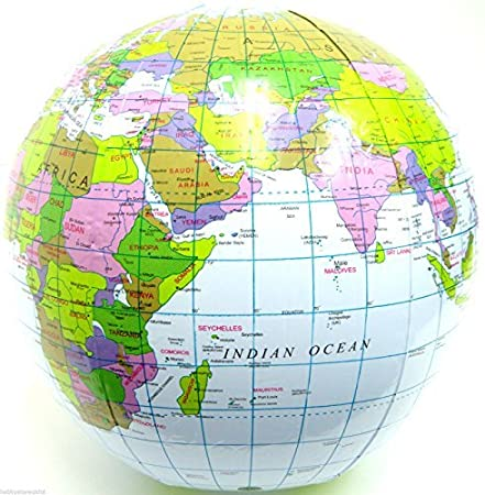 Amazon.com: Pelota hinchable de Globe Blow Up Globo Mapa Del ...