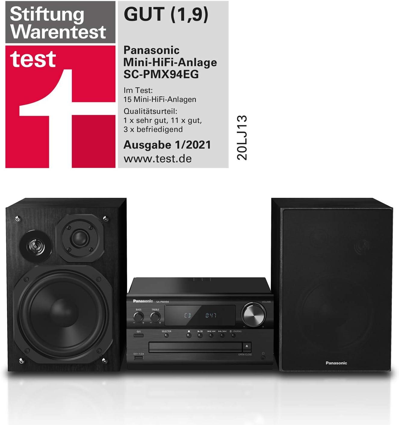 Panasonic SC-PMX94 Minicadena de música para Uso doméstico Negro 120 W - Microcadena (Minicadena de música para Uso doméstico, Negro, Monótono, 120 W, ...