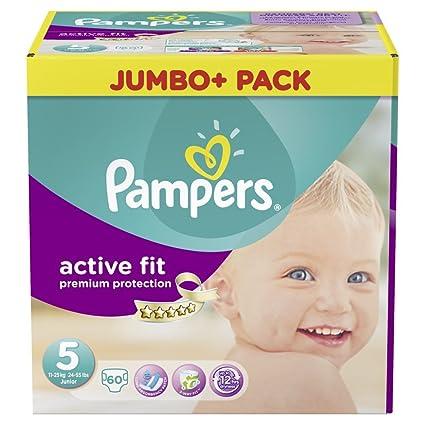 Pampers tamaño cupo activo 5 junior 11-25kg Jumbo Plus Pack (1 x 60