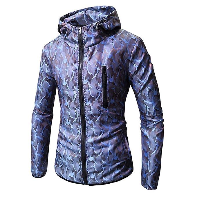 ALIKEEY Men S Long Sleeve Camouflage Impreso Sudadera con Capucha Camiseta Blusa Top Outwear Fuerza Lunares Lino Estampada: Amazon.es: Ropa y accesorios