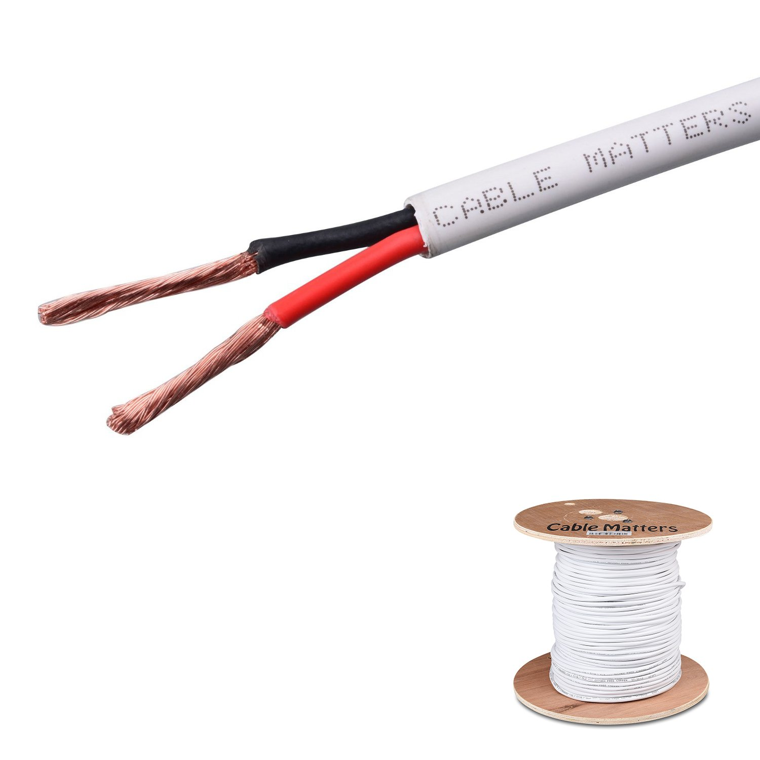 Cable Matters 2芯 インウォール 定格 (CM) 12 AWG スピーカーケーブル 100% 純銅 150m B00BWSEJTM 150m|12 AWG 12 AWG 150m