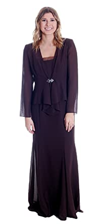 78f17de5477 Ursula of Switzerland Women s Chiffon Dress w Jeweled Cardigan in ...