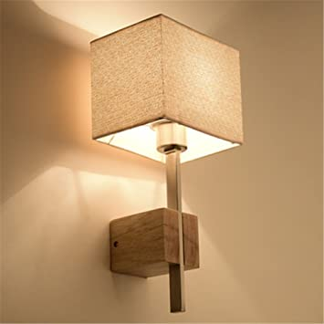 Applique Murale Moderne Bois Lampe Murale E27 Eclairage Interieur