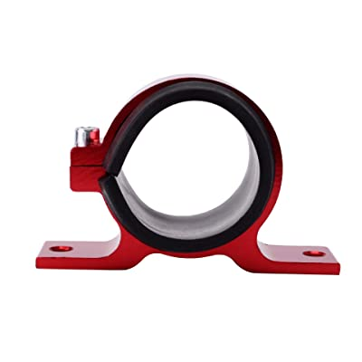 EVIL ENERGY 50mm car Oil/Fuel/Gas Pump Mounting Bracket Single Filter Clamp Cradle Red: Automotive